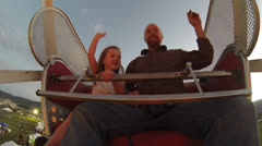 Father and daughter on a ride. Stock Footage
