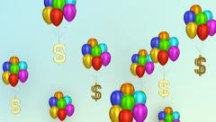 Dollar Signs With Balloons - stock footage