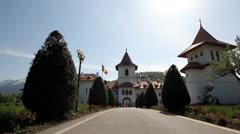 Stock Video Footage of Pathway to christian stronghold,Romania,  Sambata de jos Brasov monastery