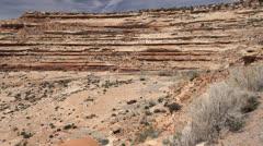Utah road up Cedar Mesa Stock Footage
