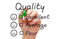excellent quality evaluation - stock photo