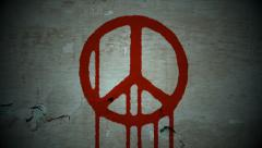 Bloody peace - wall texture Stock Footage
