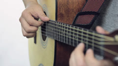 Man with guitar Stock Footage