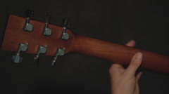 Man and guitar Stock Footage
