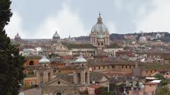 Rome panorama.mp4 Stock Footage