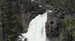 Upper Yellowstone Falls slow motion Stock Footage