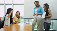 Female Student Giving Class Presentation Stock Footage