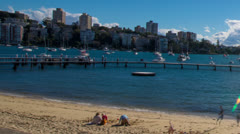 Time Lapse Pan of Sunny Harbour 123GYDB PAL Stock Footage
