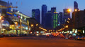 Night City traffic, Moscow, time-lapse. HD Footage