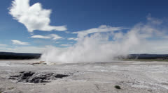 Clepsydra Geyser in Yellowstone National Park Stock Footage