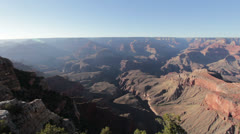 Mather point at Grand Canyon Ultra Wide shot Stock Footage