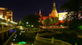 Cityscape, Moscow Kremlin and Historical Museum at night, time-lapse. Footage