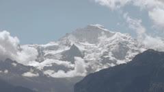 Time lapse snow mountains glaciers Stock Footage