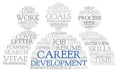 Career development in word tag cloud Stock Illustration