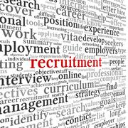 Recruitment concept in word tag cloud Stock Illustration