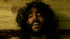 Jesus crucifixion close up Stock Footage