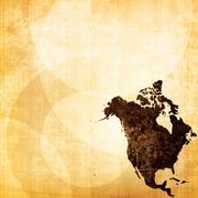 Aged america map vintage Stock Illustration