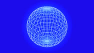 Stock Video Footage of 3d grid ball frame,tech web virtual background.