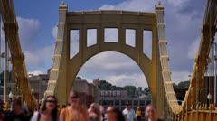 Roberto Clemente Bridge Time Lapse Stock Footage
