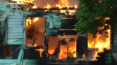 Amid the Force of Nature - House Fire Takes Home Up In Smoke Stock Footage