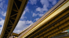 Under the Fort Duquesne Bridge Timelapse Stock Footage