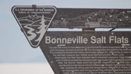 Stock Video Footage of bonneville salt flats sign