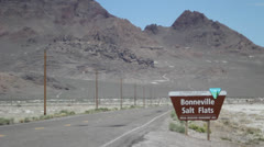 bonneville salt flats sign - stock footage