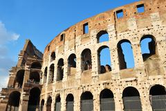 Ancient roman colosseum in rome, italy Stock Photos