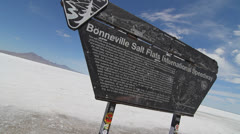 bonneville salt flats sign time lapse - stock footage