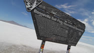 Stock Video Footage of bonneville salt flats sign time lapse