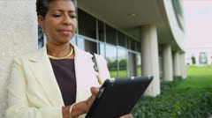 Female African American Teacher Modern Campus Close Up Stock Footage