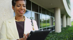Portrait Mature African American Female College Principal - stock footage
