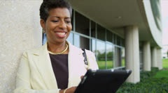 Portrait Mature African American Female Head of College - stock footage