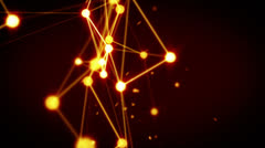 glowing technology network loop background - stock footage