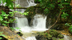 Deep forest Waterfall in Phangnga, Thailand Stock Footage