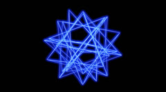 3d grid star body frame,tech web virtual background. - stock footage