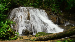 Waterfall in deep forest of Phangnga,Thailand Stock Footage