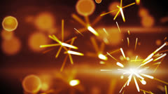 christmas sparkler closeup loop background - stock footage