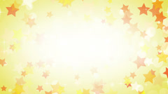 Yellow stars frame loop background Stock Footage