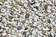 Stock Photo of smooth pebbles on beach