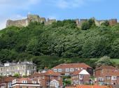 Stock Photo of scarborough castle view