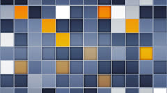 Blue orange tiles loopable backgrounds Stock Footage
