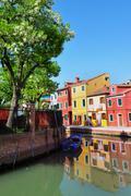colorful burano, italy - stock photo