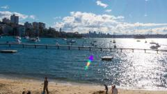 Long Time Lapse Pan of Sunny Harbour 124GYDB PAL Stock Footage