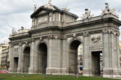 Travel photos of spain - madrid cityscape Stock Photos