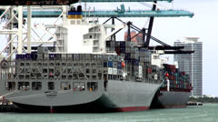 Cargo Ships, Freighters, Container Ships Stock Footage