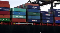 Cargo, Freight, Products, Shipping Containers Stock Footage