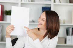 Stock Photo of pointing woman