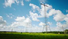 Grimeton longwave antennas, time-lapse Stock Footage