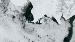 Icebergs from space -  Bristol Bay - Global Warming Stock Footage